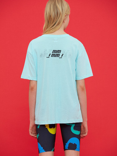 SWIMMING MMCW PRINT T/BLUE